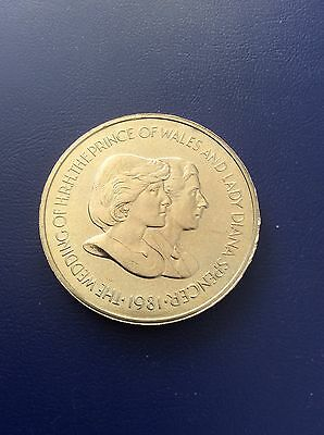 Falkland Islands 50 Pence Coin 1981 Marriage Of Charles And.diana Unc