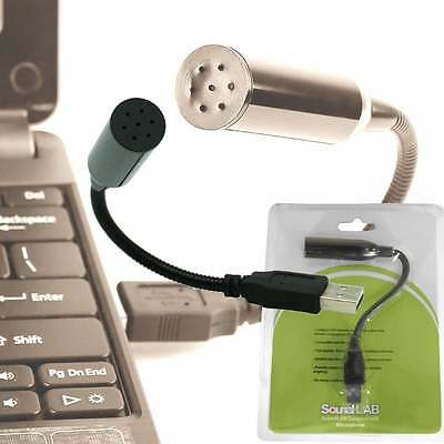Flexible Mini Desktop Stereo Record Mic USB PC Laptop Notebook Skype Microphone