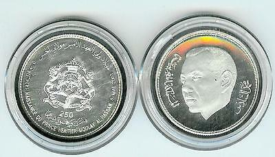 Morocco Maroc Silver Proof 250 D. 2003 Birth Of The Crown Prince