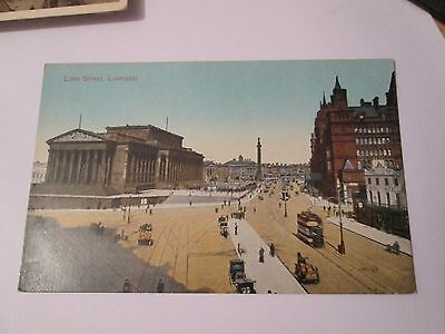 Postcard of Lime Street, Liverpool unposted Valentine's Series