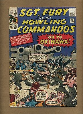 Sgt. Fury 10 (Solid!) Marvel 1964 Silver Age War 1st Captain Savage (c#12692)