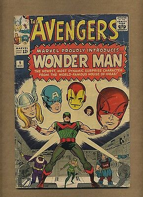 Avengers #9 (Solid!) Marvel 1964 KIRBY 1st and Death of Wonder Man! (c#12681)