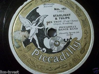 "PICCADILLY DANCE BAND ""I Thank The Moon"" 78rpm 10"" Fox"