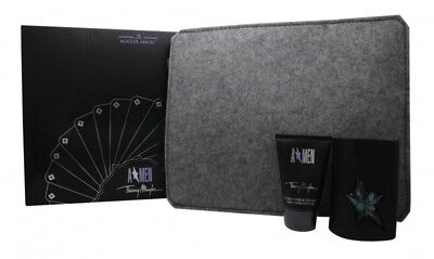 Thierry Mugler A*men Gift Set 50Ml Edt Spray + 50Ml Shower Gel + Ipad Case. New