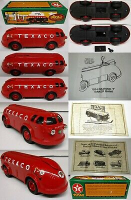 TEXACO 1934 Diamond Tanker Doodle Bug Coin Bank Metal Die Cast Series #11