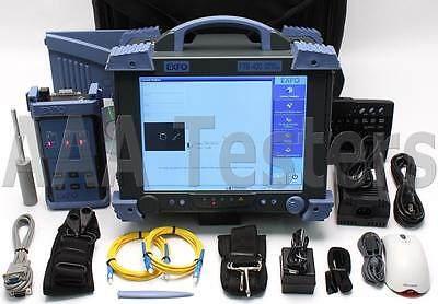 EXFO FTB-400 FTB-5503 PMD Analyzer w/ FLS-110 Polarized Source FTB 400 FTB 5503