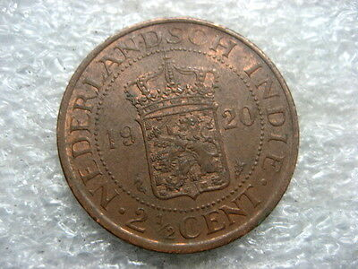 Coin Netherlands Indies 1920 2 1/2 cent