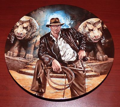 Indiana Jones And The Last Crusade 1989 Le Collector's Plate Harrison Ford
