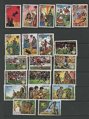 BELIZE--Accumulation of 20 stamps