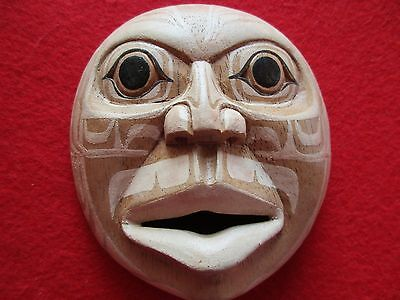 Northwest Coast Ceremonial Mask .... Hand Carved & Painted Mask, #wy-00345