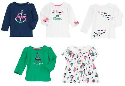 Gymboree Stripes & Anchor Tops 18-24 2T 3T 4T 5T New Toddler Girl Nautical Shirt