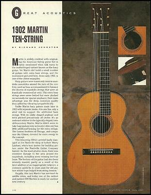 The 1902 Martin 10-string acoustic guitar 8 x 11 pinup photo 1997 article print
