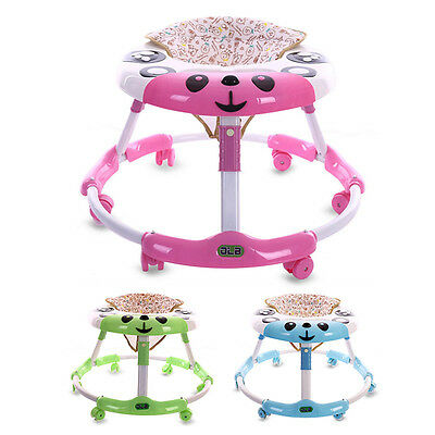 New Baby Walker Cartoon Infant Seat Toddler Comfy Walking Learn Tool W/Lights