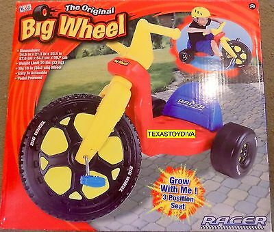 """The Original Big Wheel Grow With Me Racer Tricycle 16"""" Pedal Powered NEW IN BOX"""