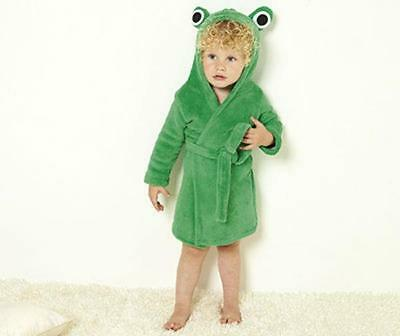 Bnwt New Baby Supersoft Frog Bath Robe Age 9/12 Months Dressing Gown Boys Girls