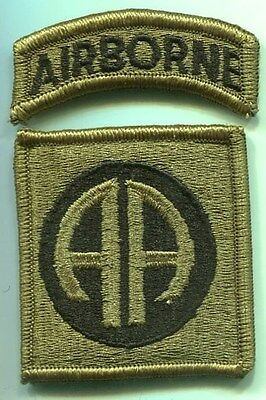 US Army 82nd Airborne Division New MultiCam Patch W/Tab 2 Piece