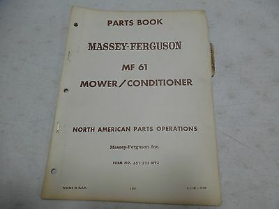 massey ferguson sickle mower manual