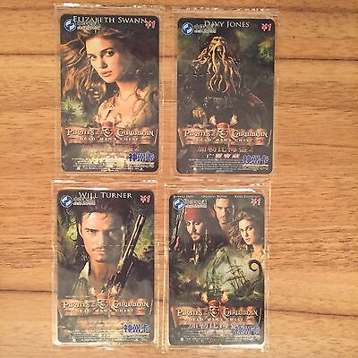 Collectable Phonecards . 4 Pirates Of The Caribbean Cards