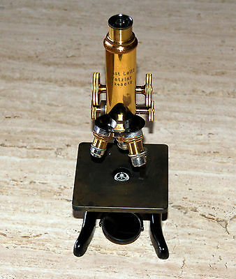 ERNST LEITZ WETZLAR  Antique Brass Microscope No.245012 circa 1926