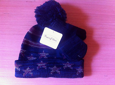 New! Rising Star Toddle Hat w/ mittens set