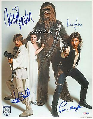 Star Wars Cast #2 Reprint Autographed Picture Photo Signed 8X10 Harrison Ford Rp