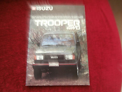 Isuzu Trooper 1987-88 Export Market Sales Brochure Standard DLX LS. Uncirculated