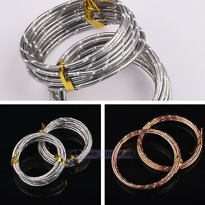 1 Roll 5 Meter 2.0mm Round Soft Aluminum Jewelry Wrap Craft Wire Jewelry Making