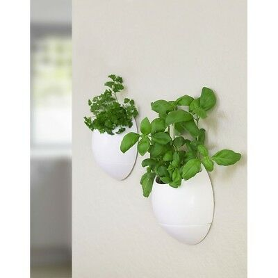 Thumbs Up Eco Pod Self-Watering Herb Pot White  Brand New
