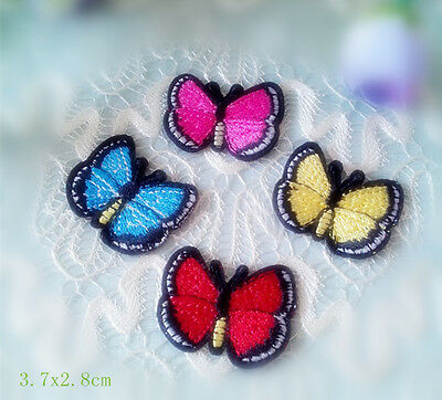 Wholesale bulk  lot  20pcs Multi colors butterfly sewing on   iron On Patch