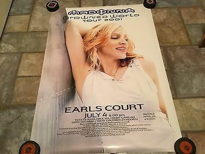 Madonna Drowned World Tour 2001 Earls Court Poster 24 X 35