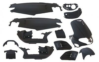 Fairing Kit 15 Fairing parts black matte for Gilera Runner