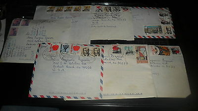 Chile - Postal  Covers  7 Covers - All 1990's Various Stamps