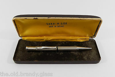 """Vintage Solid Sterling Silver Yard O Led """"Perfecta"""" Propelling Pencil, 1979"""