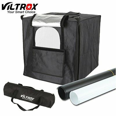 "Viltrox 24"" 60cm LED lighting Photo Studio Shooting Tent SoftBox kit Background"