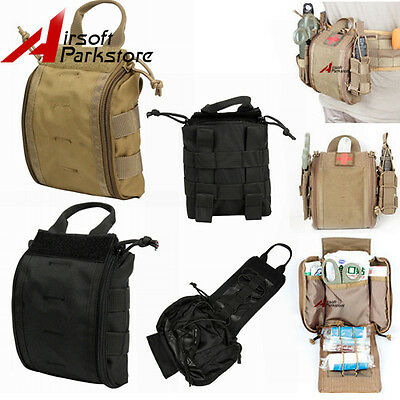 Tactical MOLLE Rip Away EMT Medical First Aid Pouch Utility Bag for Vest or Belt