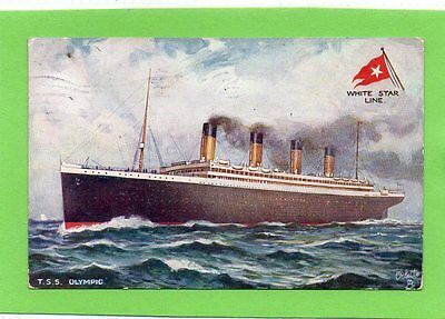 """""postcard R.m.s.olympic,white Star Line,oilette By Tucks,dated 1925"""""