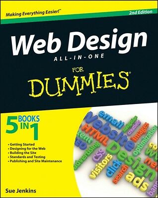 Web Design All-in-One For Dummies (Paperback), Jenkins, Sue, 9781118404102