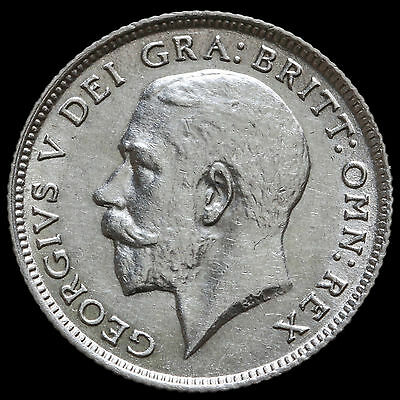 1924 George V Silver Sixpence – G/EF
