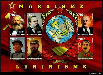 TCHAD 2014-34 Famous persons Marxisme Mao Stalin Lenin Castro (MNH)