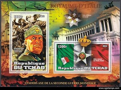 TCHAD 2012-50 World War II Guerre mondiale Weltkrieg leaders Mussolini (MNH)