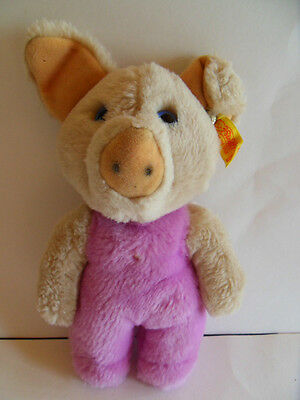 Steiff Pig  with button flag made in Germany 899