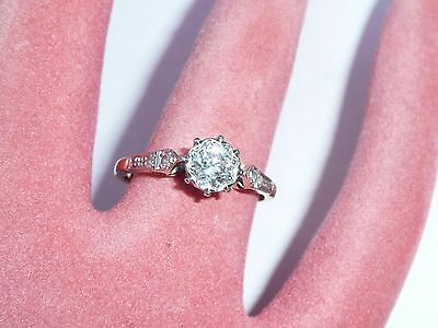 Superb Ladies 18Ct Gold & 0.6 Ct Solitare Diamond Engagement Ring Size N 17.2Mm