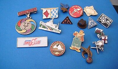 Assorted Job Lot Pin Badge Collection Mixed Themes