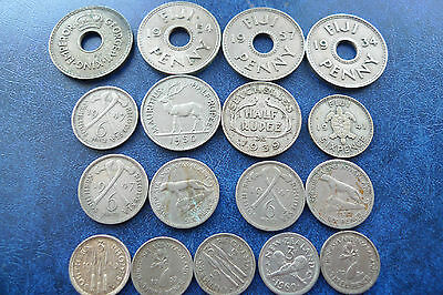 17 x Southern Hemisphere Silver Coins