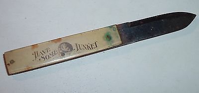 Antique Pocket Knife Advertising Junket Rennet Tablets C.1920s