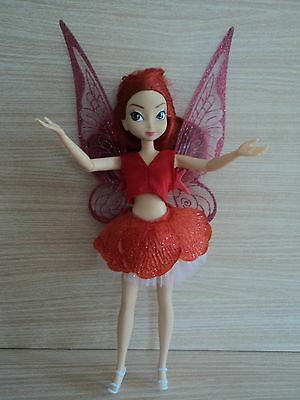 Disney RED Fairy with Wings that Move