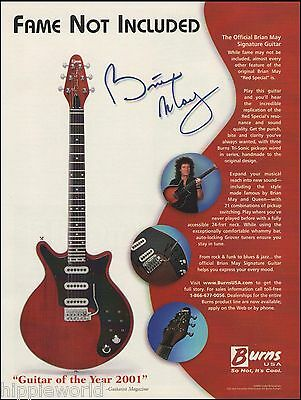 Queen Brian May Signature Red Special Burns guitar ad 8 x 11 advertisement