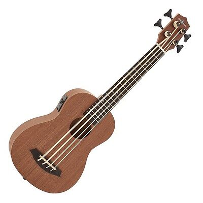 Deluxe Electro Acoustic Bass Ukulele by Gear4music