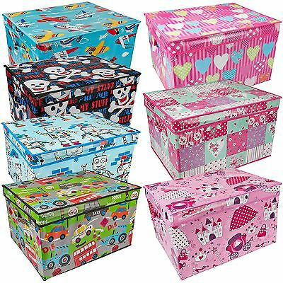 Large Childrens Toy Chest Kids Storage Box Clothes Laundry Bedding Bag Tidy