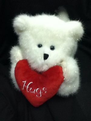 Boyds Plush Valentine's Day Bear - Huggie - Animated,musical, Lights Up, Kicks!
